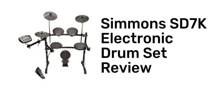 Simmons SD7K Electronic Drum Set full review for this product